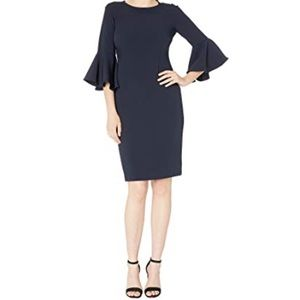 Tahari by ASL Women's Bell Sleeve Stretch Crepe